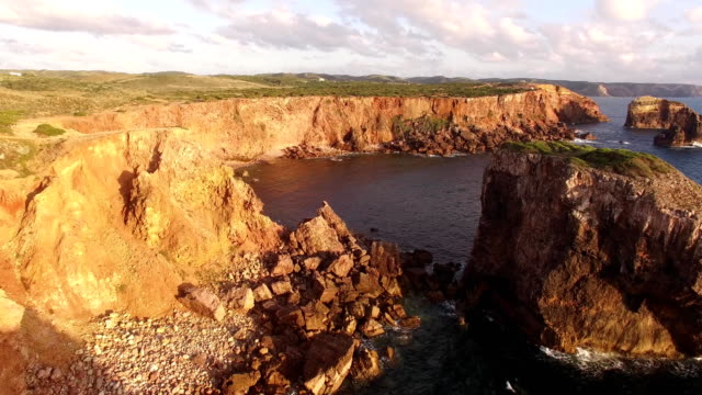 Beautiful cliffs on west coast of Portugal near Carrapateira, Rota Vicentina. video