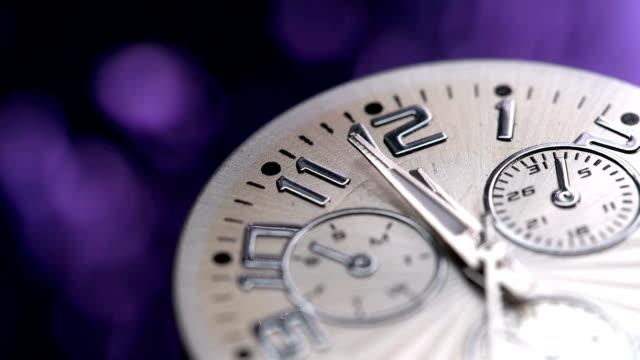 beautiful clock shot with macro lens video