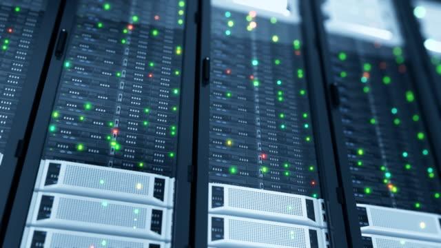 vackra närbild servrar i moderna datacenter. tunga 3d-rendering. cloud computing datalagring. loopas 3d-animering. - server room bildbanksvideor och videomaterial från bakom kulisserna