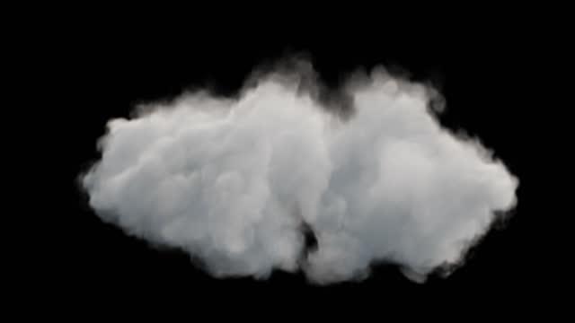 vídeos de stock, filmes e b-roll de bela morfação de nuvens, loop sem emenda, canal alfa, 4k - nuvem