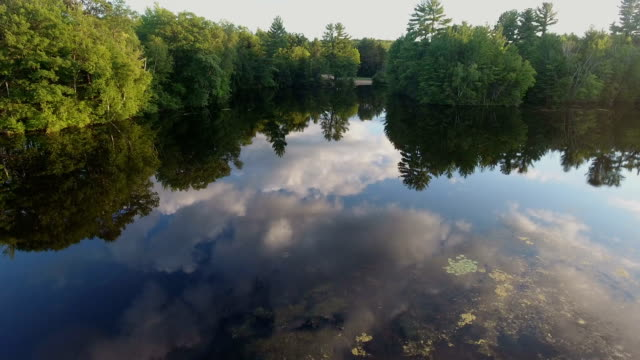 Beautiful cloud reflections in the water highlighting the natural beauty video