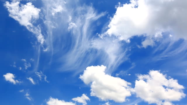 Beautiful Clouds Floating On Blue Sky video