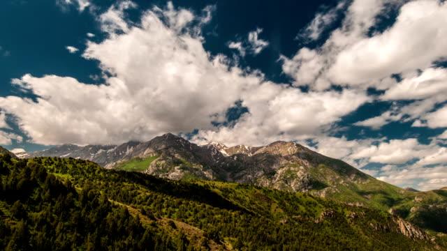 Beautiful clouds high in mountains Sairam-Su, Tyan-Shan, Kazahkstan video