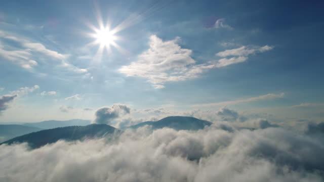 Beautiful clouds over Carpatian mountains video