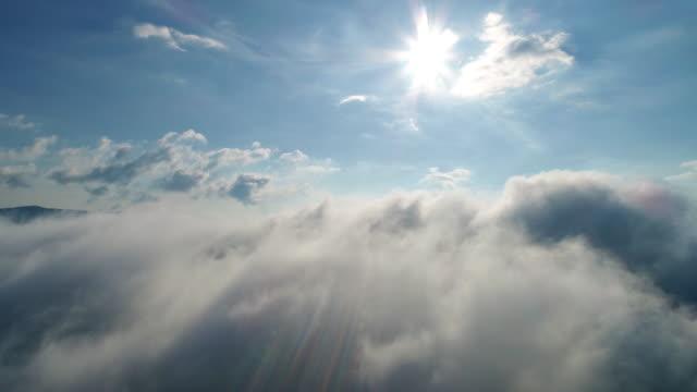 carpatian 山脈の美しい雲 - ハエ点の映像素材/bロール