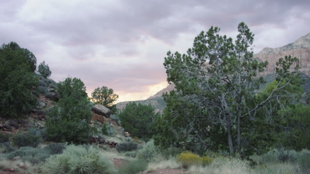4K UHD: Beautiful Clouds over Zion National Park video