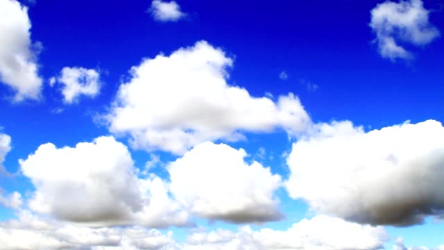 Beautiful clouds. Real time. video