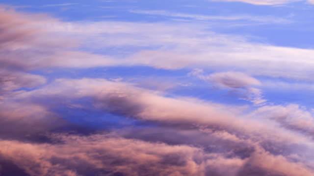 belle nuvole - colore saturo video stock e b–roll