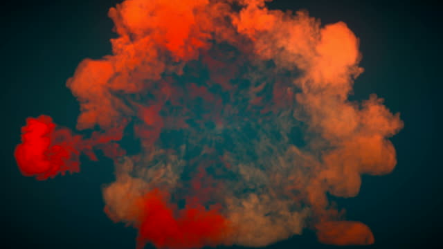 bella effetto onda d'urto colorata flash luminoso e onde divergenti isolate su sfondo scuro. c'è un canale opaco alfa per posizionare il testo o il logo. rendering 3d. 4k, risoluzione ultra hd - creatività video stock e b–roll