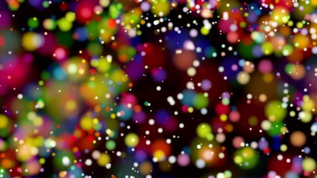 Beautiful colorful bokeh blurred background defocused lights video