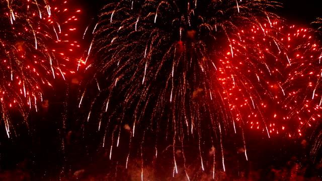 HD - Beautiful colorful firework video