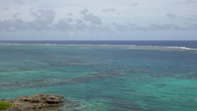 Beautiful coral reef at Miyako island, Okinawa, Japan video