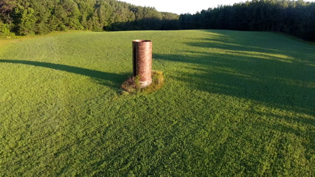 Beautiful country silo in green field video