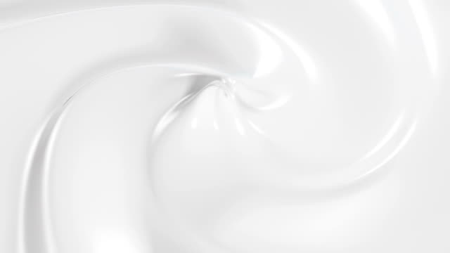 Beautiful Cream in Looped 3d Animation. Close-up Seamless. video