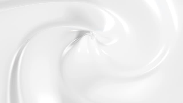 vidéos et rushes de belle crème en animation 3d en boucle. gros plan sans soudure. - vanille