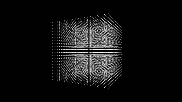 4k schöne cube box dot partikel-design, abstrakte fraktal zeigen geometry.intersecting kreativität virtuellen kosmos. motion grafik und animation hintergrund. - quadratisch komposition stock-videos und b-roll-filmmaterial