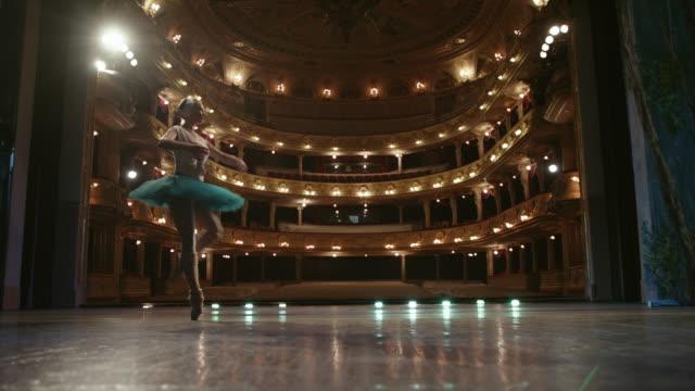 美しい踊り。ステージ上のバレエダンサー。 - バレリーナ点の映像素材/bロール