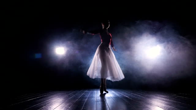 Beautiful dance performed by the lady. Slow motion. No face. HD. video
