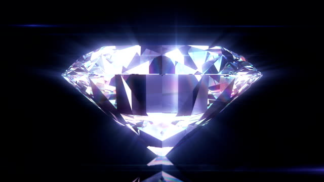 Beautiful Diamond Close-Up with Matte in Looped animation. HD 1080. video