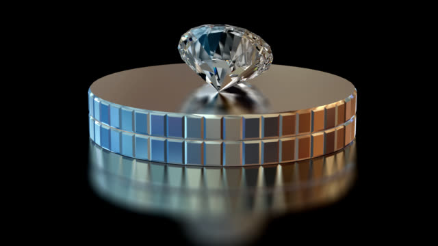 HD Beautiful Diamond on a revolving glass stand video