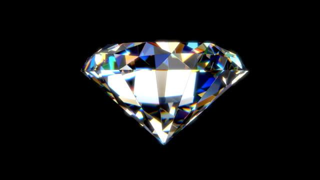 Beautiful Diamond Beautiful Diamond - Seamless loop animation with alpha matte diamond stock videos & royalty-free footage