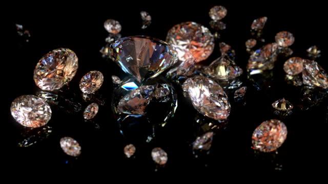 beautiful diamonds background video