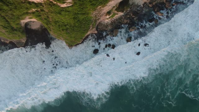 Beautiful drone view on cliff near Indian Ocean.