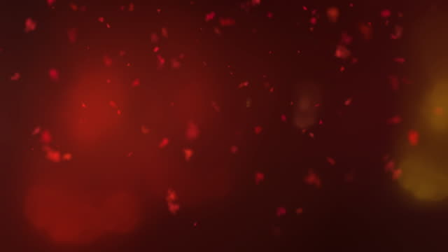 Beautiful dust clouds blown in the red light video