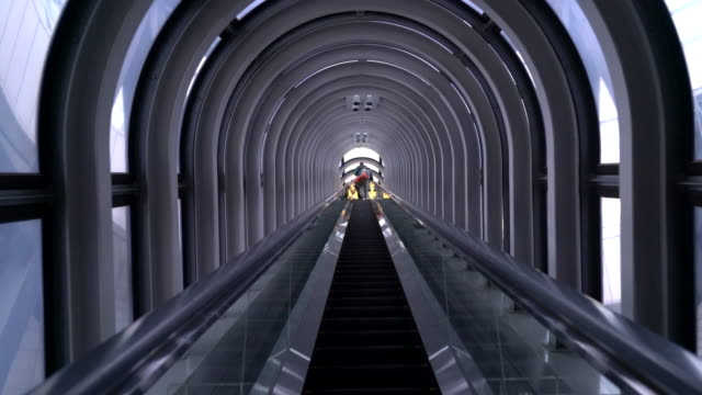 beautiful escalator in Osaka video