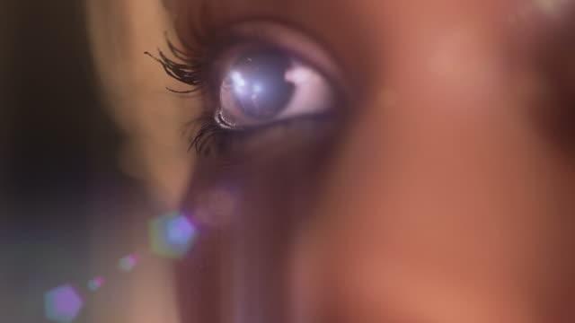 Beautiful Eye Reflex With Flare video