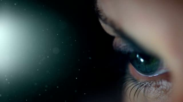 Beautiful Eye with copy space. HD video