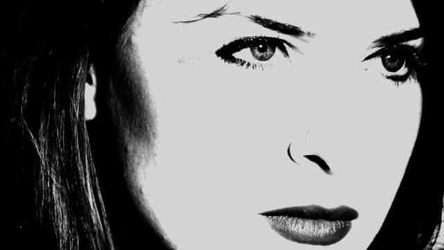 beautiful face - kontrastrik bildbanksvideor och videomaterial från bakom kulisserna
