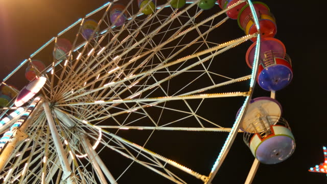 Beautiful Ferris Wheel at Night video