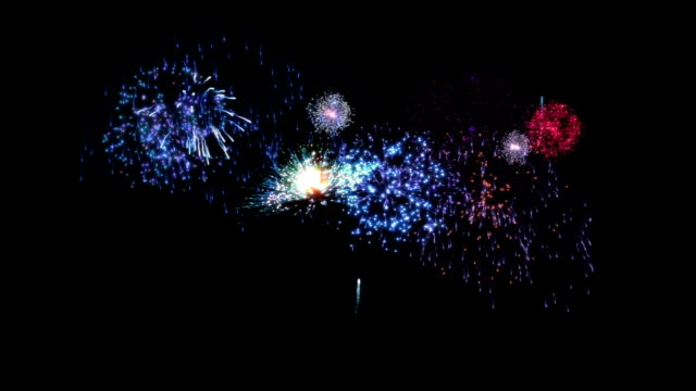 Beautiful fireworks. Blue. Background with fireworks. Full HD. Animation created exclusively for iStockphoto.  fireworks stock videos & royalty-free footage