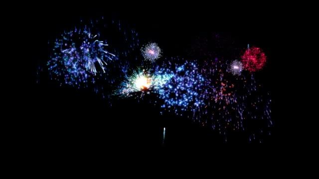 Beautiful fireworks. Blue. video