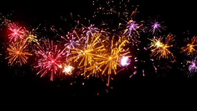 beautiful fireworks seamless loop animation beautiful fireworks. computer generated seamless loop christmas animation. fourth of july videos stock videos & royalty-free footage