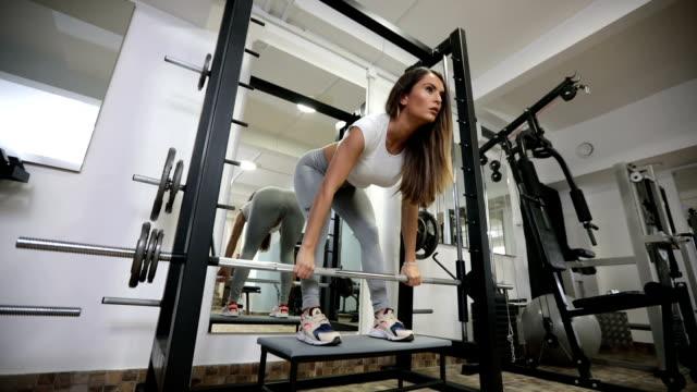 Beautiful fit woman training video