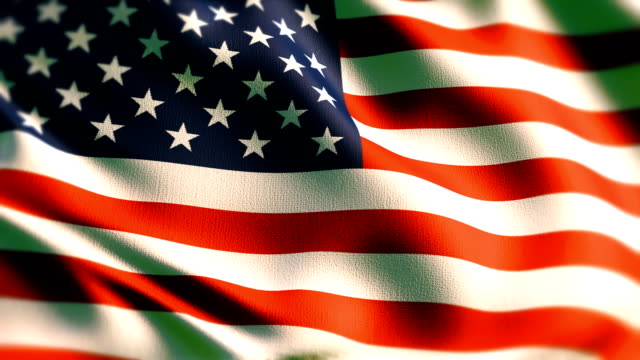 beautiful flag of the usa waving in the wind - fourth of july стоковые видео и кадры b-roll