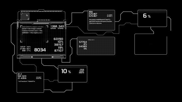 schöne flussdiagramme zeichnen animation. futuristische hud mit zahlen und codes laufen. head-up-display computerdaten. hightech-konzept-element. - flussdiagramm stock-videos und b-roll-filmmaterial