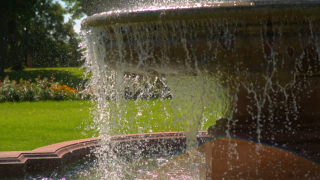 A beautiful fountain on a Sunny day video
