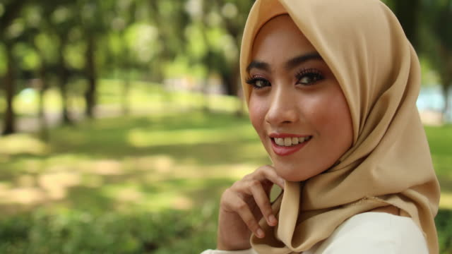 Beautiful Girl In Hijab Portrait Of Charming Young Muslim Woman charming stock videos & royalty-free footage