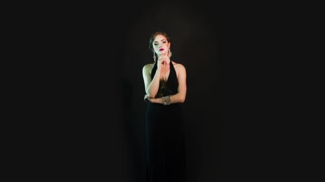 Beautiful glamorous woman video