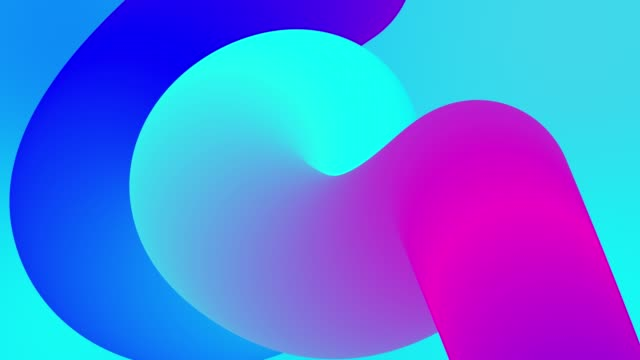 beautiful gradients with shades of blue purple flow along elegantly twisted line or pipe. Beautiful modern design background with smooth loop animation of liquid gradient in 4k. Luma matte as alpha video