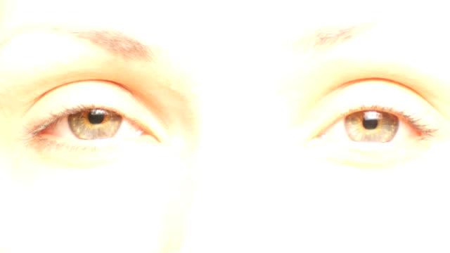 Beautiful green eyes video