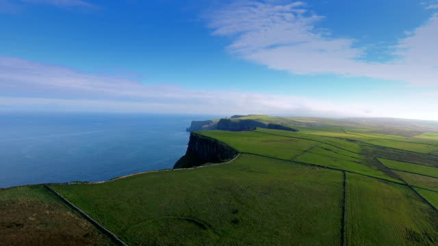 A beautiful green feilds from the Cliffs oF Moher video