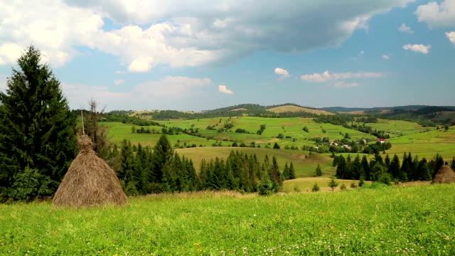 Beautiful green hills video