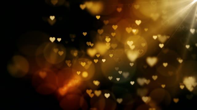 아름 다운 마음 배경 loopable - 사랑 스톡 비디오 및 b-롤 화면