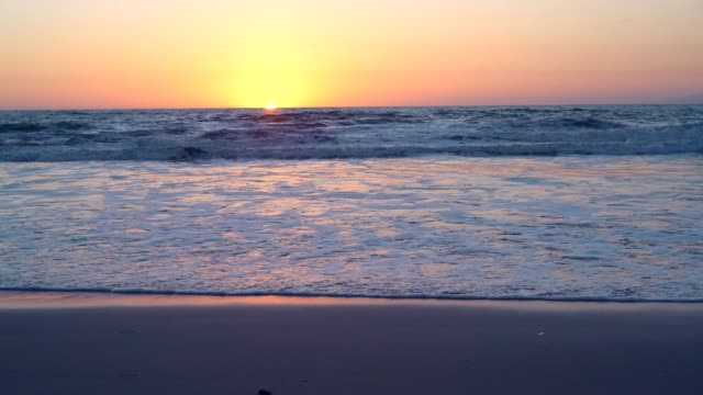 Beautiful horizon over the sea video
