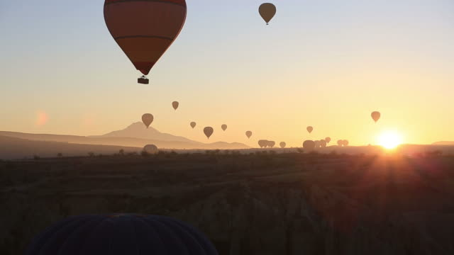 Beautiful Hot Air Balloons at Sunset Freedom to Travel Vacation Exploration video