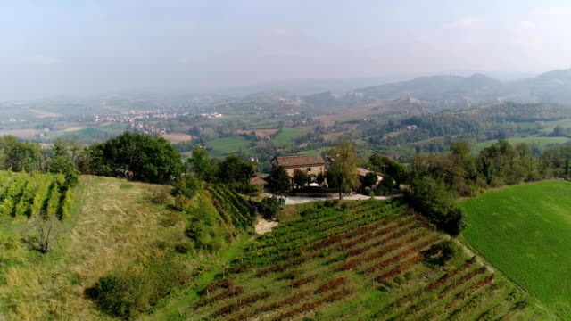 A beautiful house on top of a mountain, a small private winery on top of a mountain video